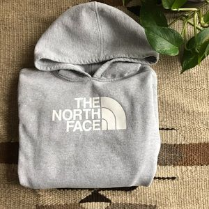 The North Face  |  Kid's Grey Logo Hoodie  |  L